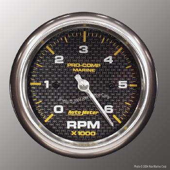 auto meter pro comp marine carbon fiber3 3 8 6000 rpm. Black Bedroom Furniture Sets. Home Design Ideas