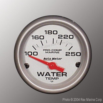 Auto Meter Pro Comp Marine Ultra Lite Silver2 1 16 Quot Water