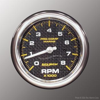 auto meter pro comp marine carbon fiber 3 3 8 8000 rpm. Black Bedroom Furniture Sets. Home Design Ideas