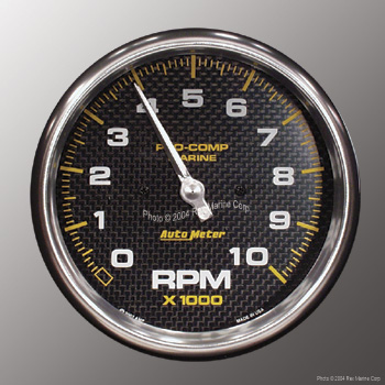 Auto Meter Pro Comp Marine Carbon Fiber 5 Quot 10000 Rpm